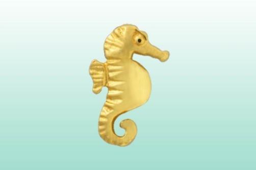 Seepferdchen gold, 22kt.