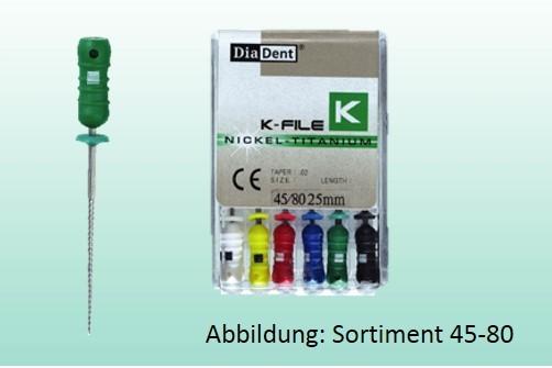 K-Feile Ni-Titan Handinstrument Gr.15-40