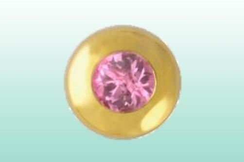 Kreis m. pink Saph. gold 22kt/0.01ct